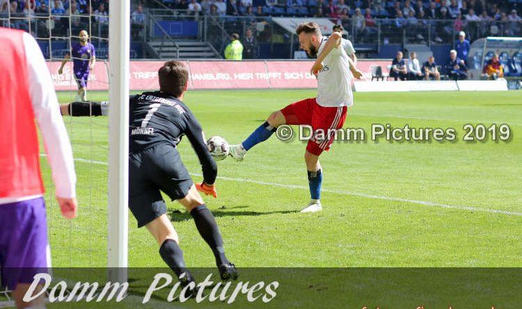 2. Liga: Hamburger SV – FC Erzgebirge Aue 1:1